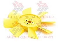 Крыльчатка вентилятора радиатора ГАЗель 3302 (двигателя402, 406) 8-ми лоп. (желтая). 33020-1308010-8Ж
