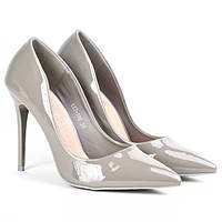 Туфли женские лаковые на высокой шпильке