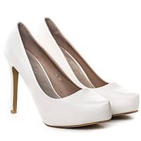 Супер стильные женские туфли на каблуке белого цвета размеры 38-41