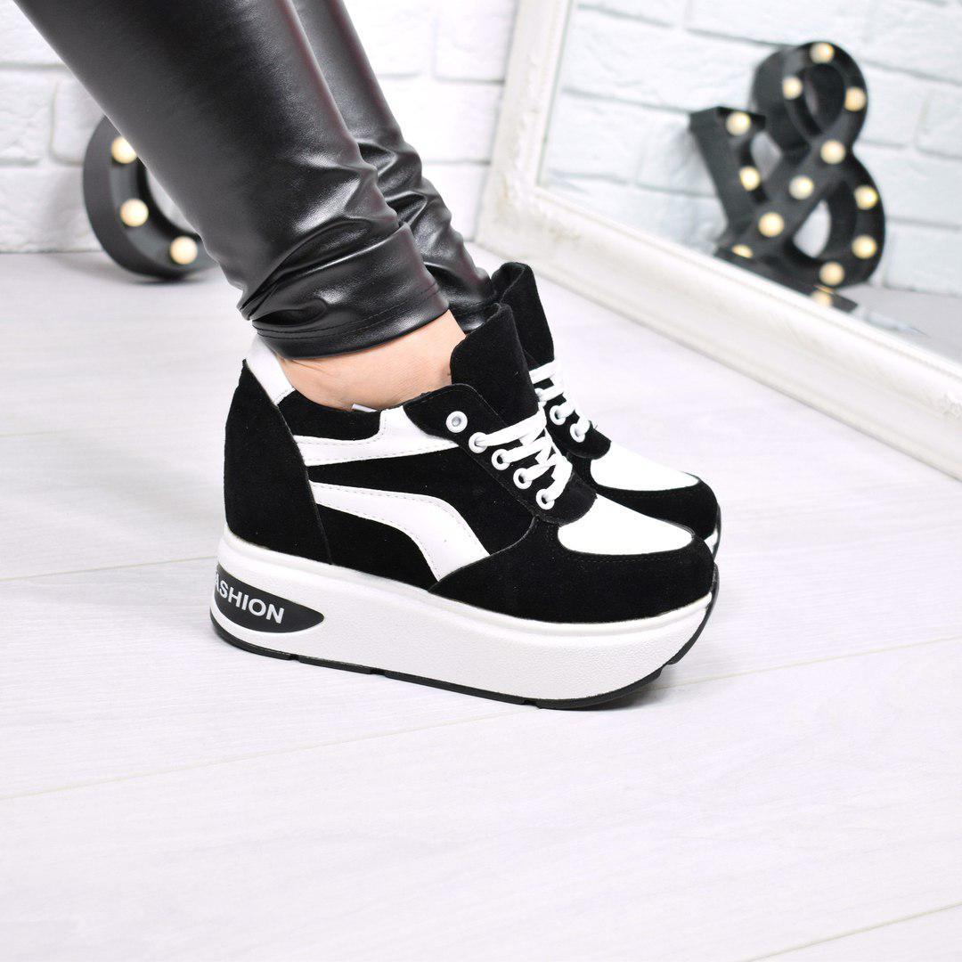 dc78e3af2 Купить Кроссовок женский на платформе Liner чёрный, обувь женскую по ...