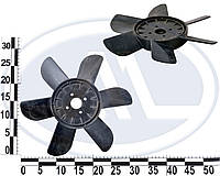 Крыльчатка вентилятора радиатора Москвич 6-ти лоп. (черная). 412-1308010-6Ч