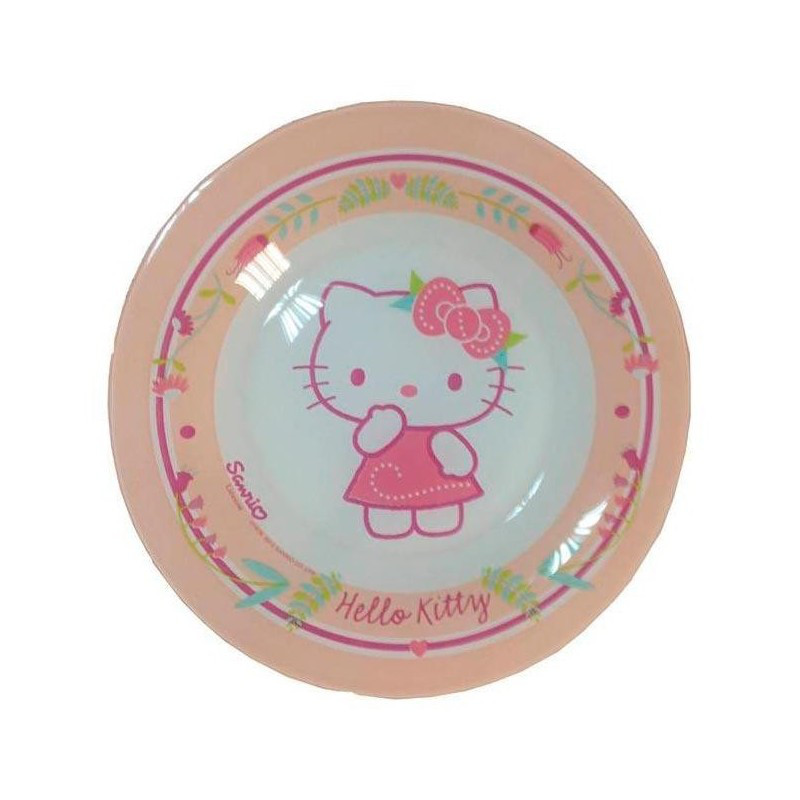 J0036, Тарелка десертная Luminarc Disney Hello Kitty Nordic Flower 19,