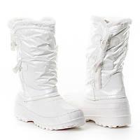 Самые модные сапоги - дутики демисезонные в белом цвете. Хит продаж!!!