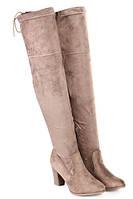 Удобные высокие сапоги на каблуке и с завязками сзади размеры 40, фото 1