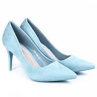 Женские туфли лодочки на каблуке, замшевые туфли женские классические, стильные , фото 1