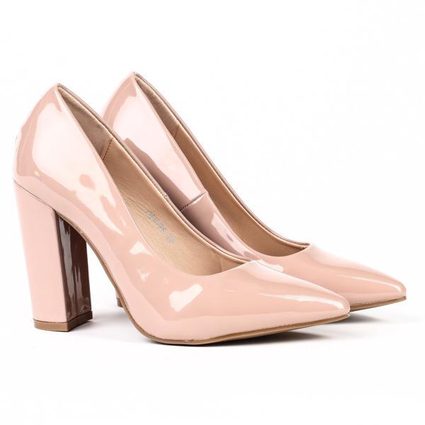 Удобные женские туфли на толстом устойчивом каблуке