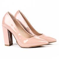 Удобные женские туфли на толстом устойчивом каблуке, фото 1