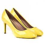 Летние, яркие женские туфли жёлтого цвета размер 36-41