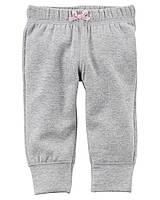 Серые штанишки на флисе Carter's для девочки