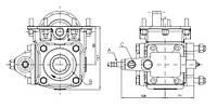 Коробка отбора мощности FHER ZF односторонняя, правое окно, механика