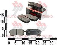 Колодки тормозные задние диск HYUNDAI H-1 08/VERACRUZ 09-/CARNIVAL. H04-KA022