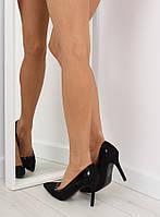 Черные женские туфли 1522-133 41,40,39,38,37,36