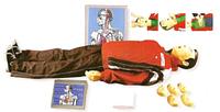 Кардиотренажер фантом Максим 111-01-К, тренажер сердечно-легочной и мозговой реанимации, пружинно-механический с
