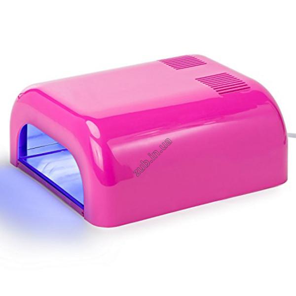 Лампа ультрафиолетовая для маникюра L-12 36Вт розовая