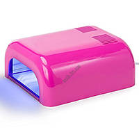 Лампа ультрафиолетовая для маникюра L-12 36Вт розовая, фото 1