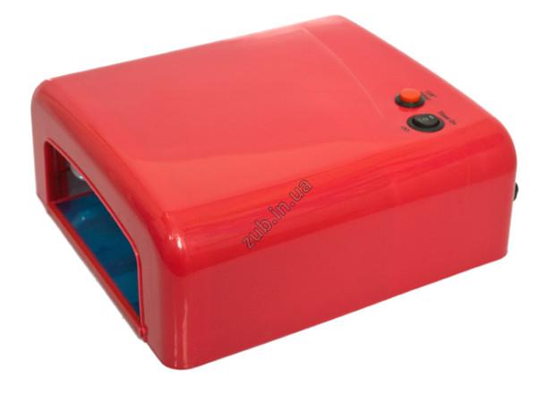 Лампа ультрафиолетовая для маникюра L-13 36Вт красная