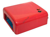 Лампа ультрафиолетовая для маникюра L-13 36Вт красная, фото 1