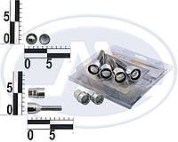 Болт 12х 45 колес хром конус секретки (вращ. кольцо, 2 ключа (ш 1.5) (4 шт) WALLINE (блист)
