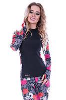 Рашгард женский Totalfit RW1-P36 L розовый, серый, черный