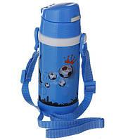 Дитячий термос А-плюс Fl-1776 з трубочкою блакитний, 320 мл