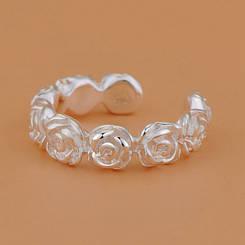 "Колечко ""Романтические розочки"", размер 17, стерлинговое серебро, 925 проба"