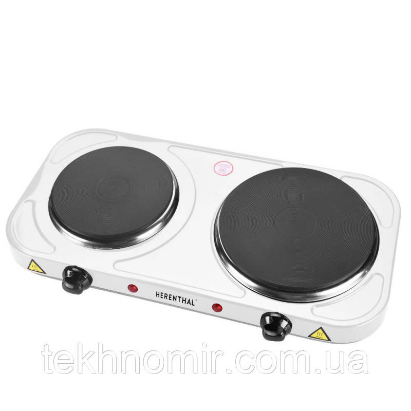 Плита електрична настільна Herenthal HT-DKP2500.15 WHITE 2500 Вт