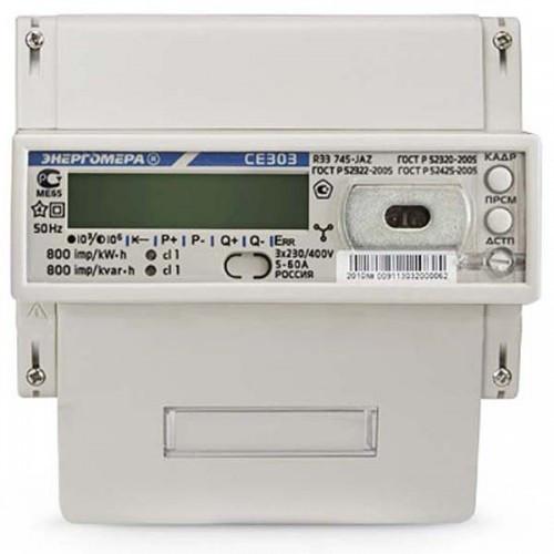 Трехфазный электросчетчик прямого включения СЕ 303-U AR R33 746-JAYVZ (Энергомера )