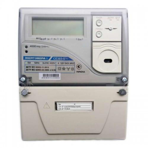 Трехфазный электросчетчик трансформаторного включения СЕ 303-U AR S31 543-JAYVZ (12) (Энергомера )