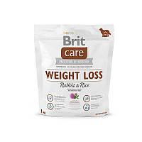 Сухой корм Brit Care Weight Loss Rabbit & Rice 1 kg  (д/собак с лишним весом)