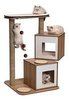 Дряпка для кошки Hagen Vesper с двумя домиками (орех)