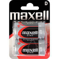 Батарейка D Maxell R20 в блистере 1шт (2шт в уп.)