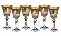 """Набор бокалов для белого вина 6 шт., 170 мл. """"Изольда"""" хрустальный с позолотой Kolglass"""