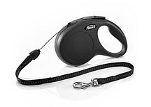 Рулетка Flexi NEW CLASSIC  S  8m/12kg  (трос) черная