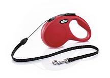Рулетка Flexi NEW CLASSIC  S  5m/12kg  (трос) красная