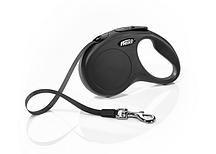 Рулетка Flexi NEW CLASSIC  S  5m/15kg  (лента)  черная