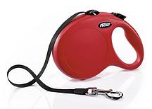 Рулетка Flexi NEW CLASSIC L 8m (лента) красная