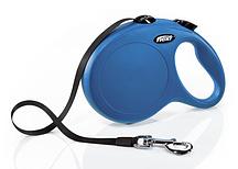 Рулетка Flexi NEW CLASSIC L 8m (лента) синяя