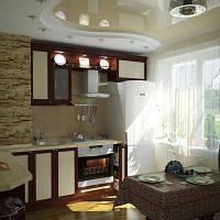 Натяжной потолок на кухне, фото 1