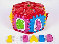 Логический шестигранник-сортер с буквами и животными КВ /6/(50-003)