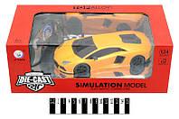"Р/У Машина  коллекц. ""Lamborghini"" 1:24 метал-пластик, аккум. в кор.30*15,6*11,1 см /36-2/(JT039)"