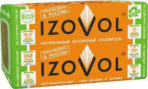 135 пл./1,8 кв.м Базальтовый утеплитель (каменная минвата) Izovol (Изовол) Ф-120 (1000*600*100 мм)