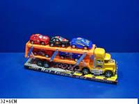 Трейлер 2 эт. 5 машинок блистер /72-2/(214A)