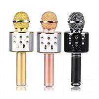 Беспроводной микрофон караоке bluetooth WS858 Karaoke с чехлом Оригинал!