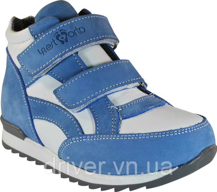 Кросівки ортопедичні високі унісекс. Блакитні з білим. 31-36р - Інтернет -  магазин 8d0b4c9077e32
