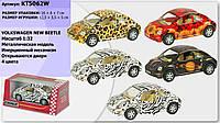 "Машина металлKT5062W ""Volkswagen New Beetle"", в кор. 16*8*7см /96-4/(KT5062W)"