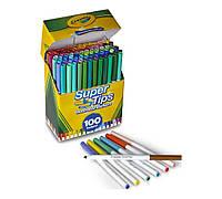 Фломастеры Crayola Super TipsWashable в наборе 100 цветов не повторяются, Крайола
