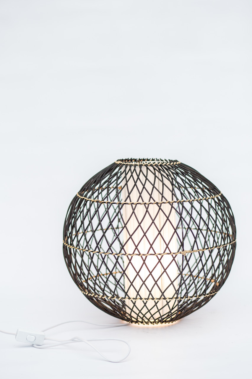 Светильник плетеный из ротанга Шар диаметр 40 см
