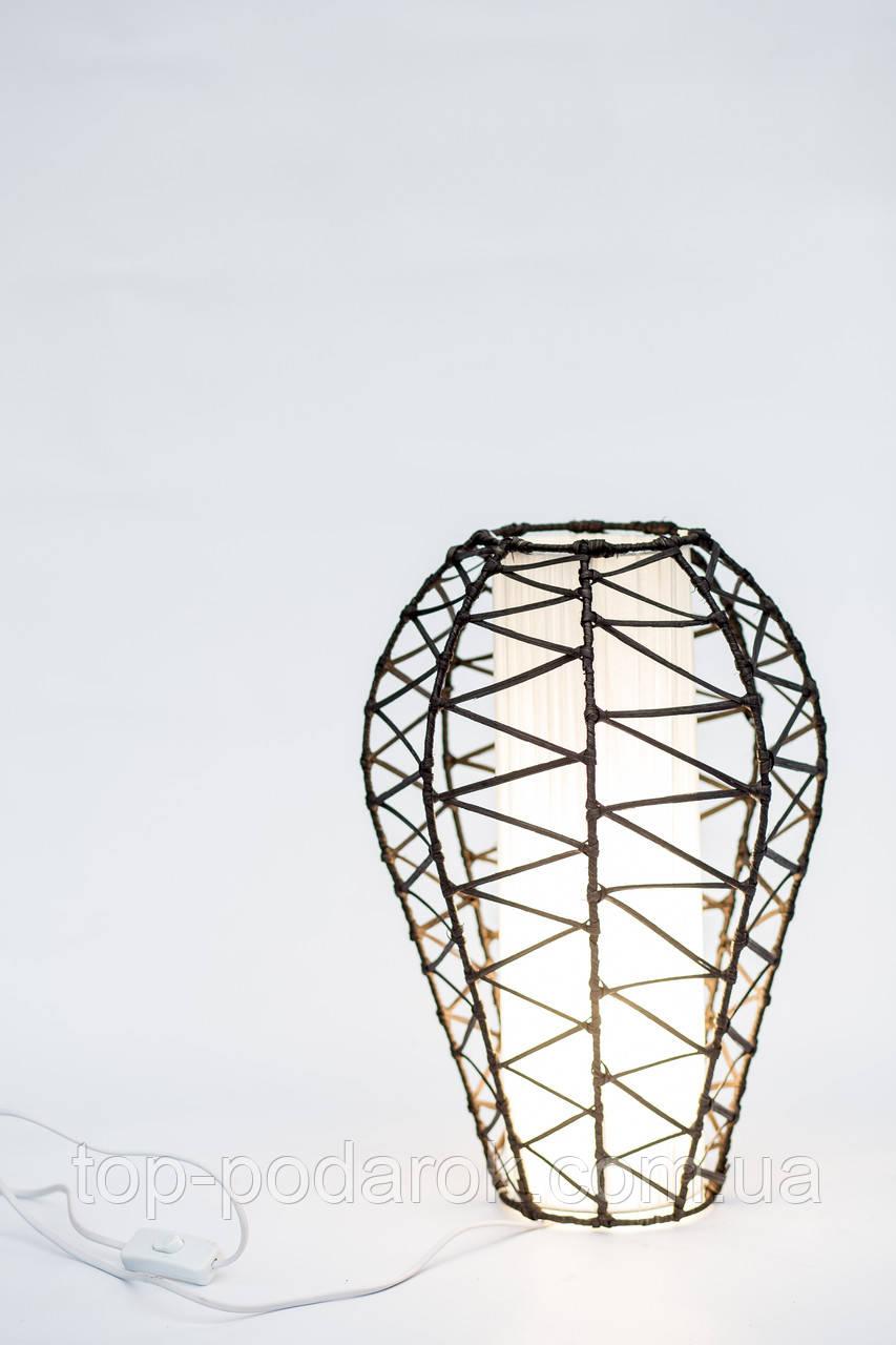 Светильник плетеный из ротанга Капля высота 40 см