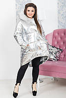 """Удлиненная зимняя женская куртка """"ORIGINAL SILVER """" (р.48-54)"""