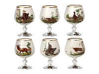 Набор бокалов для коньяка NB Art Охота 250 мл 6 шт (белый), 615-4351